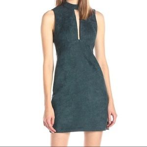 BCBG suede evergreen Dress